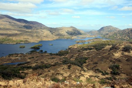Beautiful view area over the lakes of Killarney county Kerry, Ireland given its name by Queen Victoria�s visit to the area in 1861 Stock Photo - 4962997