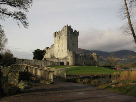 15th century: Ross Castle dating to the early 15th century in Killarney, county Kerry, Ireland Stock Photo