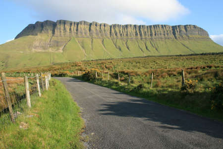 This beautiful mountain which is located in County Sligo, Ireland rises to a height of 497 m1,730 ft. A prominent flat-topped limestone buttress, scored by erosion, it forms part of the Dartry range and dominates the surrounding landscape