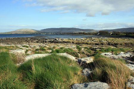 eiszeit: Landschaft Schuss im Burren im County Clare, Irland eine gro�e Fl�che von kahlen Kalksteinfelsen geschnitzten von der letzten Eiszeit