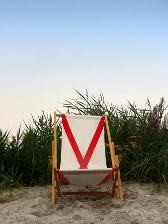 Empty Beach Chair on the Beach Stock Photo - 1511096