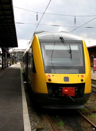 Yellow train at the platform Stock Photo - 1511099