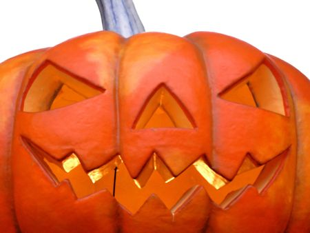 Isloatad Halloween pumpkin with a big grin Stock Photo - 1950743