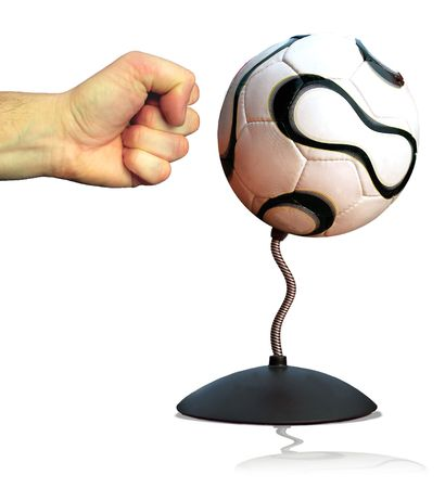 A soccer punch ball reducing football related violence