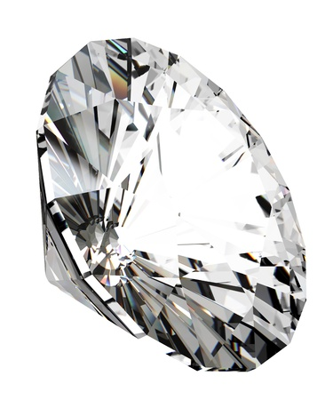 unbreakable: 3d render of beautiful diamond, over white background