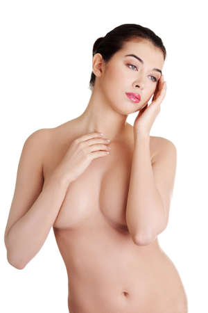 Sexy busty topless woman  photo
