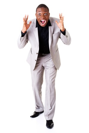 Young shocked businessman photo
