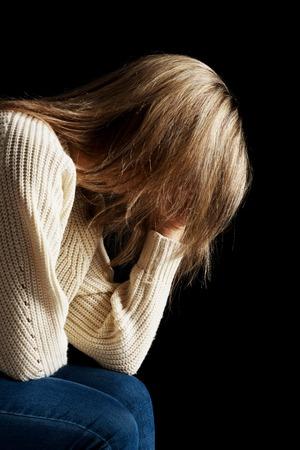 Sad woman heaving depression.
