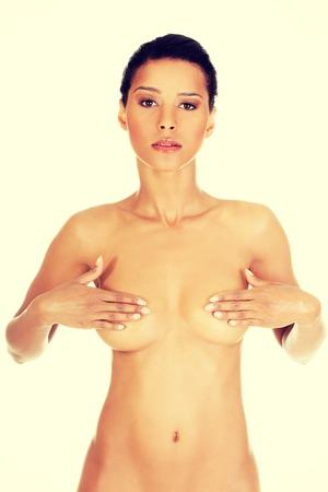 topless: Belle femme d'ajustement sain et topless