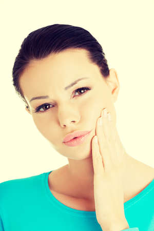 painfully: Young woman with tooth ache Stock Photo