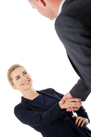 Handshake of two business people. photo