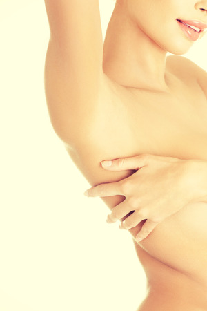 axilla: Womans armpit, isolated on white Stock Photo