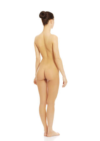Young beauty fit nude women. Stock Photo