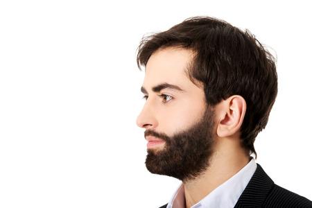 profile picture: Profile picture of handsome businessman. Stock Photo
