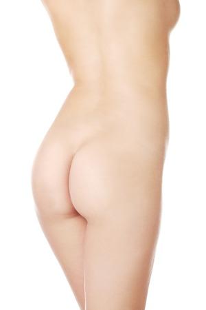 naked female body: Back view of naked female body. Stock Photo