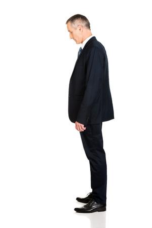 full length: Full length side view businessman standing.