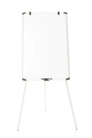 flip chart: Empty flip chart standing on the floor.