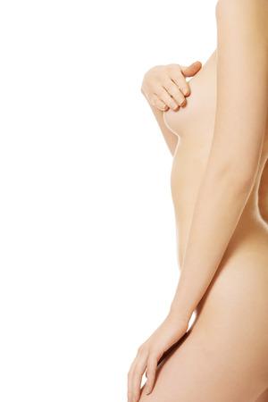 Close up on slim woman body. photo