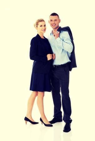 Successful business couple is standing photo