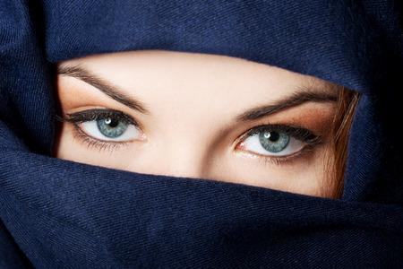 arab model: Young arabian woman in hijab