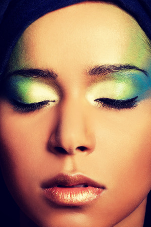 eyeshades: Beauty woman with artistic make up.