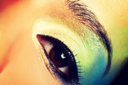 eyeshades: Beauty woman with artistic eye make up.