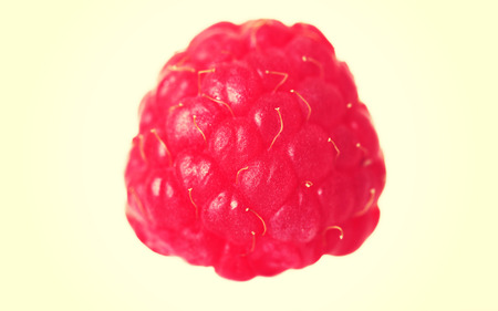 juicy: Fresh juicy and pink raspberry.