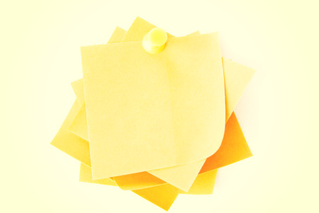 attached: Yellow small memo attached with drawin pin.
