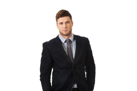 Successful confident businessman in formalwear. Stock Photo