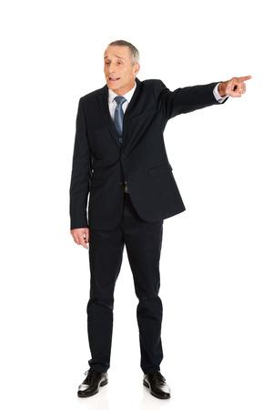 dismiss: Full length boss dismissing someone.