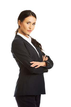 folded arms: Confident businesswoman with folded arms.