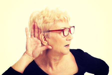 noises: Senior woman overhears a conversation