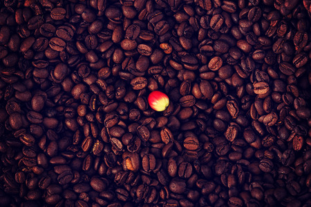 a lot of: A lot of coffee beans and berry
