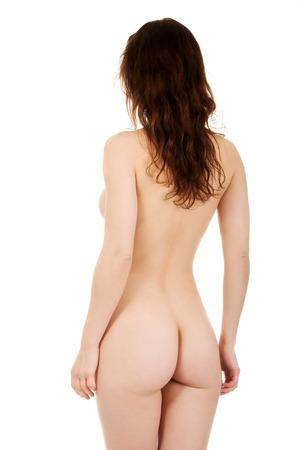 naked woman back: Sch�ne nackte Frau zur�ck zur Kamera. Lizenzfreie Bilder