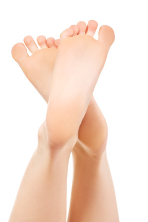 footcare: Healthy smooth female bare feet.