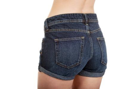 mujeres jovenes desnudas: Mujer joven descamisado en pantalones vaqueros.