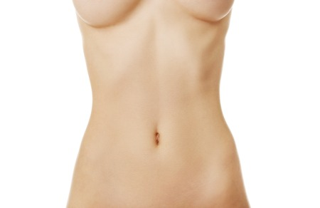 beautiful navel women: Beautiful slim cacuasian womans belly. Stock Photo