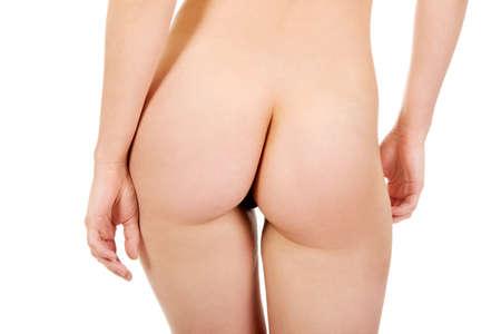 Beautiful slim naked womans ass. Stock Photo