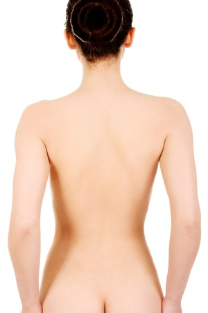 naked woman back: