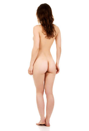 Beautiful naked woman back to camera.