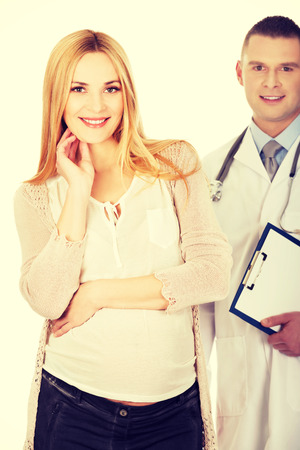 gynecologist: Pregnant woman with her gynecologist