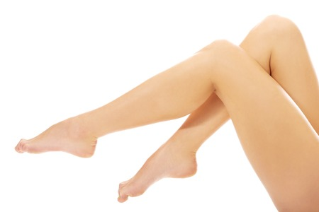 long toes: Beautiful smooth perfect female legs.