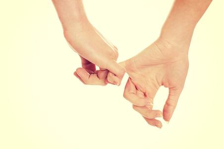 ensemble mains: Les femmes et Le Mans mains. Banque d'images