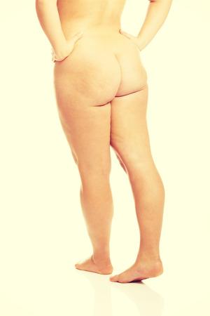 big ass: Overweight woman showing her buttocks