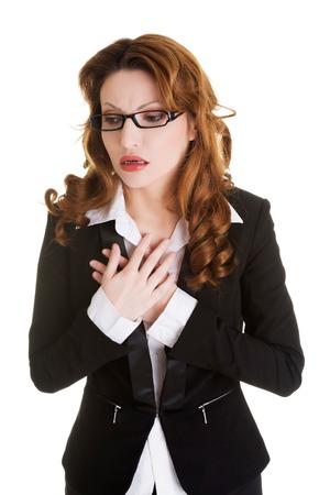 convulsion: Empresaria enferma que tiene una enfermedad cardíaca.