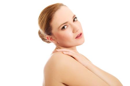 topless women: Beautiful young sensual spa woman.