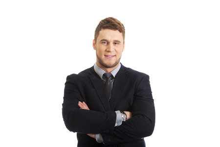 folded arms: Successful confident businessman with folded arms.