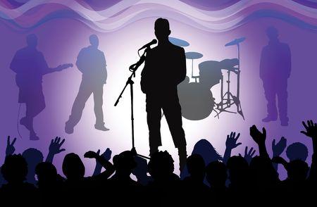 rock concert: concerto rock, disegno vettoriale