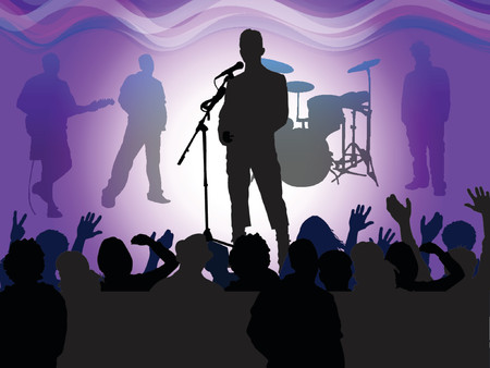 finale: rock concert finale, vector drawing