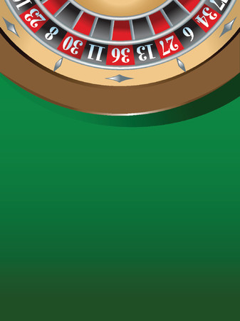 roulette table: illustration of a roulette table, gambling concept Illustration